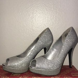Sexy Sparkly Open Toed High Heels